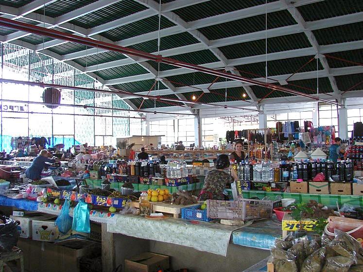 Городской рынок в Гаграх